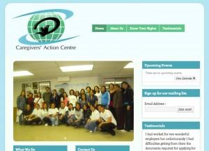 Caregivers' Action Centre website