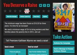 You Deserve a Raise minimum wage campaign website