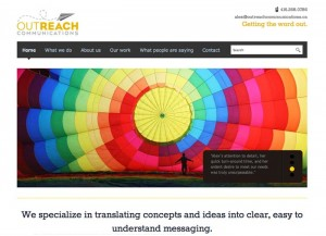 Outreach Communications website