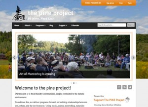 Pine Project website