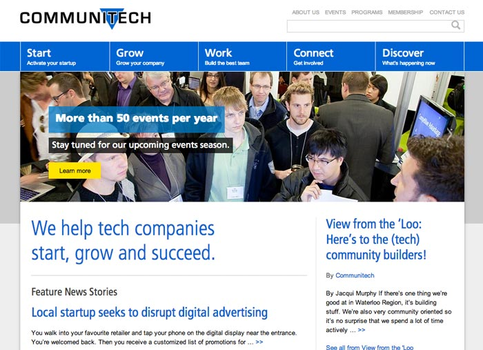 Communitech website screen capture