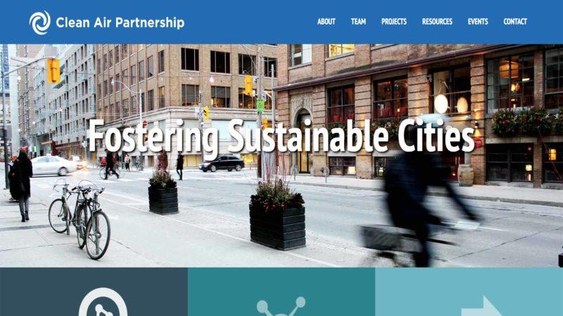Clean Air Partnership website screen capture