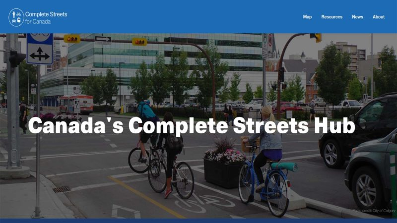 Complete Streets for Canada website screen capture