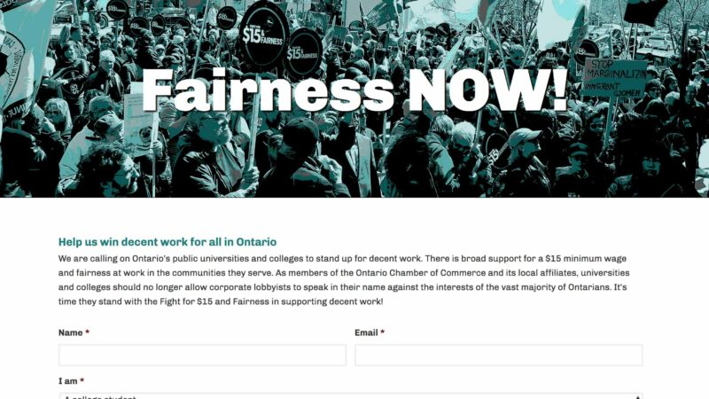 Fairness Now website screen capture