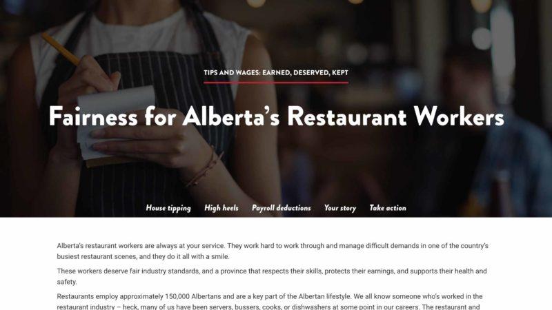 Fair Serve website screen capture