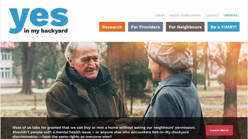 Homecoming Coalition website screen capture