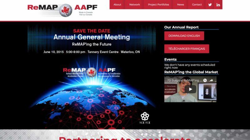 ReMAP Network website screen capture