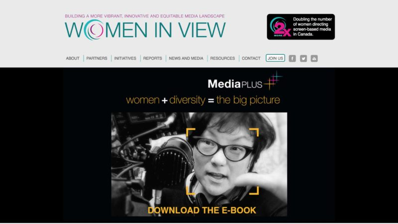 Women in View website screen capture