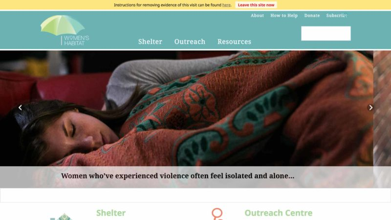 Women's Habitat website screen capture