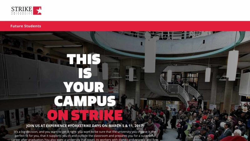 York Strike website screen capture