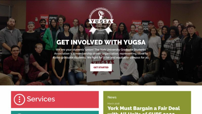 YUGSA website screen capture